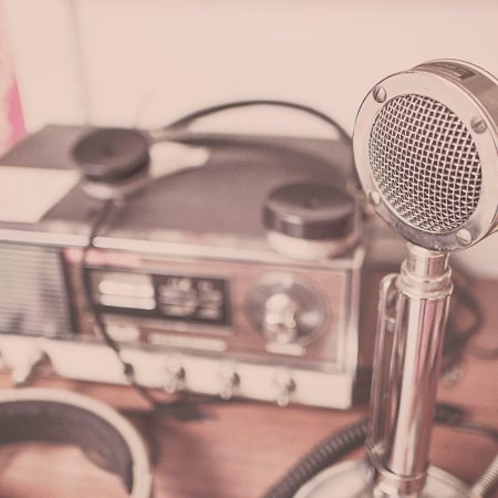 picture of a radio and microphone